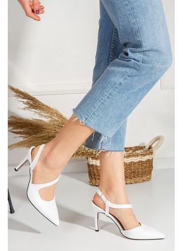Derithy Lıvosy Topuklu Ayakkabı-Sıyah-Byc1108 Beyaz